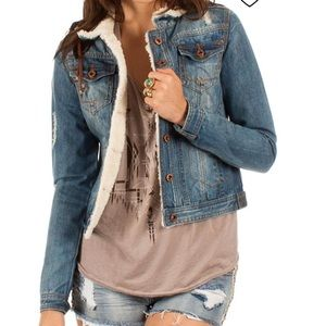 DENIM JACKET || white crow ||